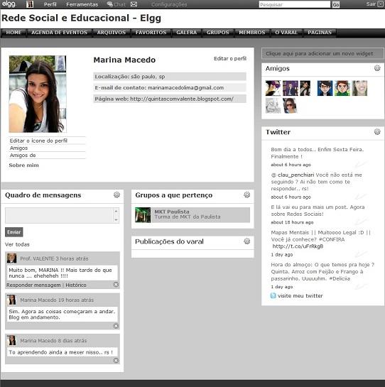 Rede Social e Educacional ELGG